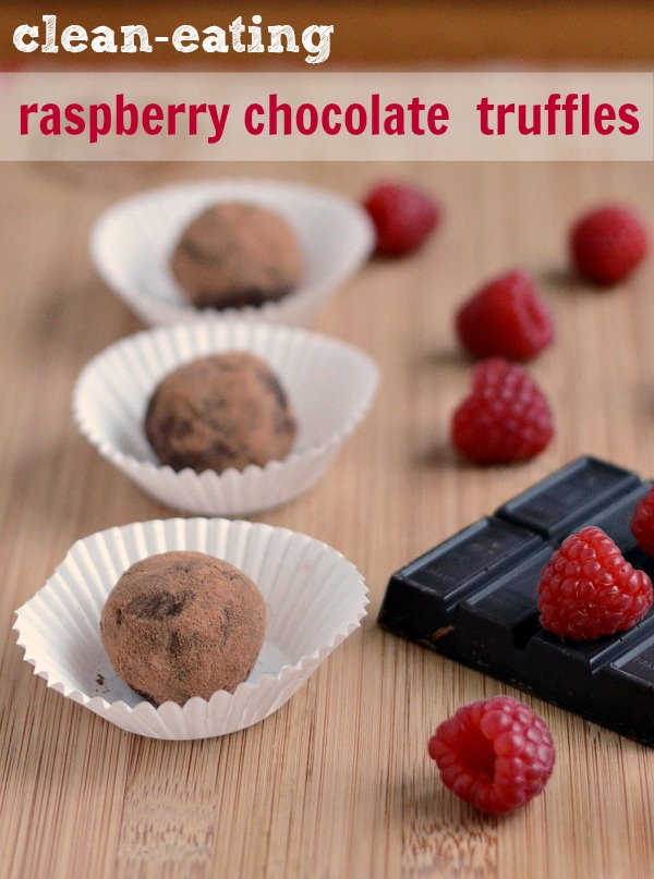 You have to try this healthy raspberry chocolate truffle recipe! It's a delicious treat for your Valentine! Recipe from Real Food Real Deals