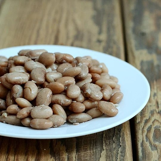 cooked beans