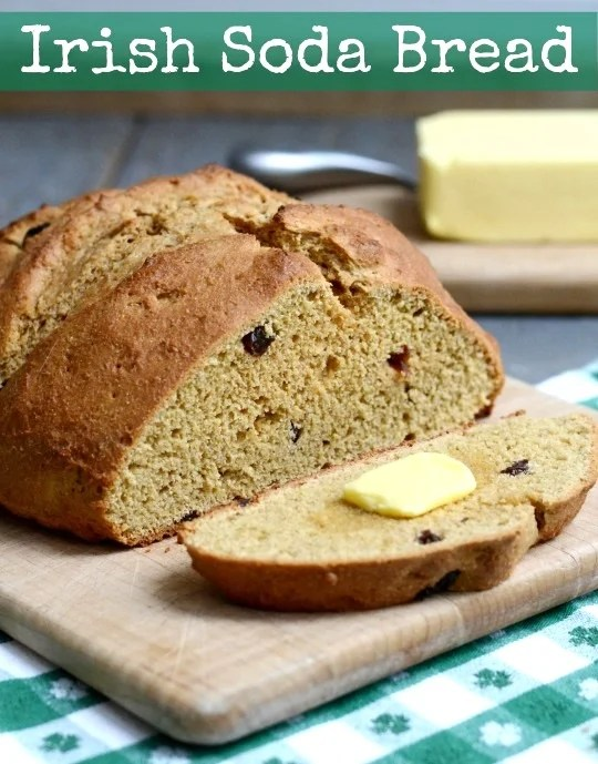 This whole grain Irish Soda Bread is the perfect healthy recipe to enjoy for St. Patrick's Day or any time of year. It makes a great breakfast or snack.