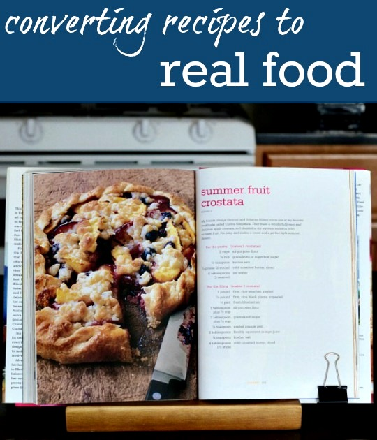 converting recipes to real food