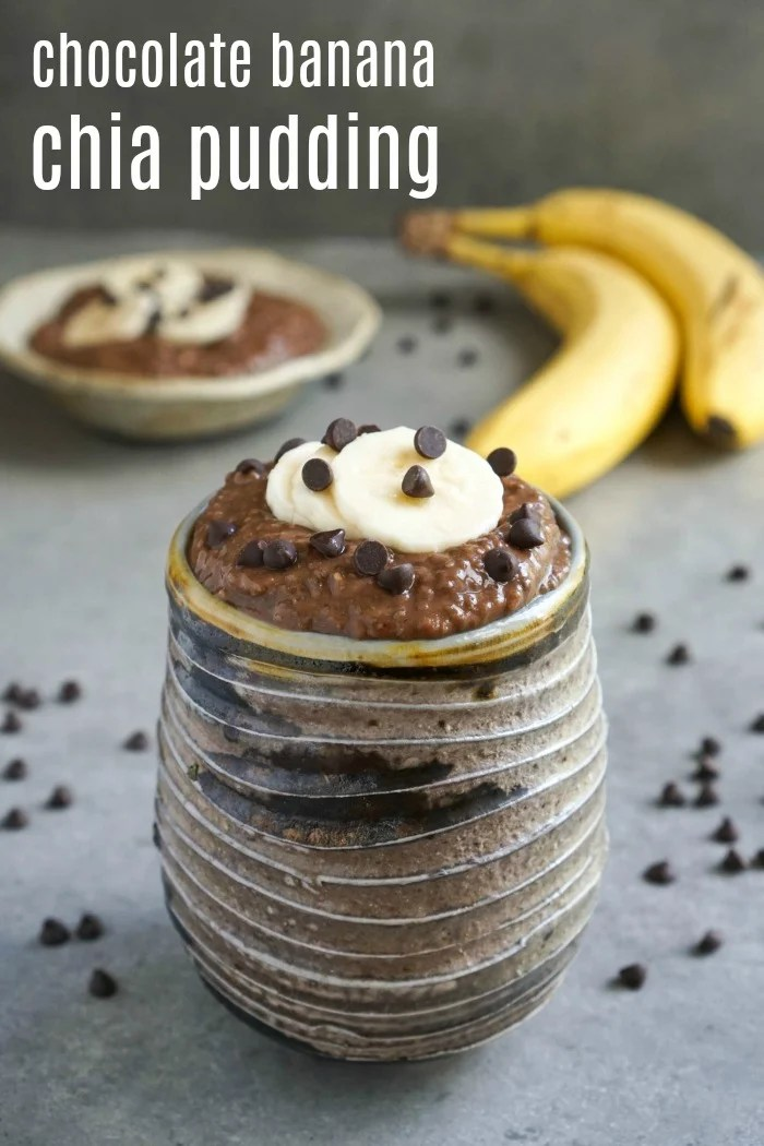 Chocolate banana chia pudding real food real deals this chocolate banana chia pudding is the perfect healthy snack or breakfast it tastes like forumfinder Choice Image