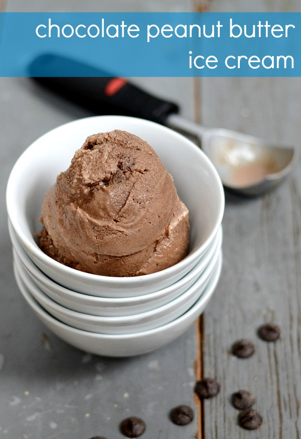 This chocolate peanut butter ice cream is an amazingly delicious dessert. And it's a healthy recipe, too!