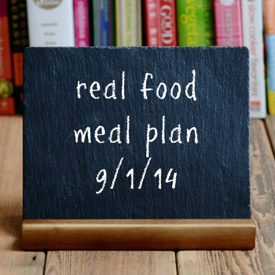 real food meal plan week 29