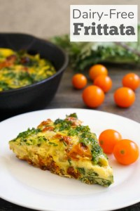 This dairy free frittata is such a delicious recipe for any time of day. It's a healthy, vegetable-filled meal that's on the table in 30 minutes.