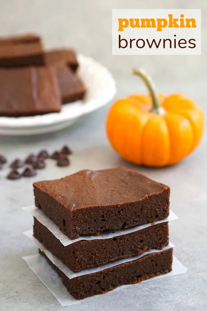 These healthy pumpkin brownies are the best gluten-free fall dessert.
