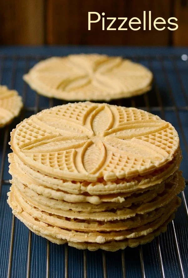 Pizzelles are the best healthy cookies for Christmas or Easter! They stay fresh for several days, so you can keep them on hand for a holiday treat. Recipe from Real Food Real Deals.