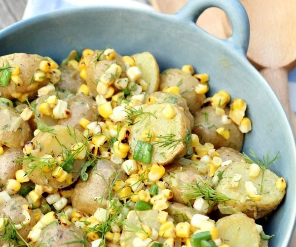 Vegan Potato and Grilled Corn Salad Recipe