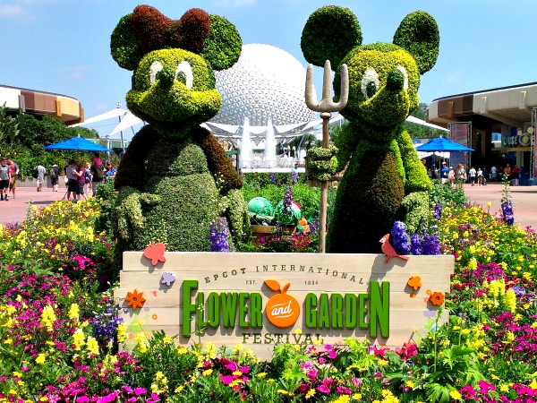 Epcot's Flower and Garden Festival is a great time to visit Disney World. Lots of beautiful flowers, and great food too!