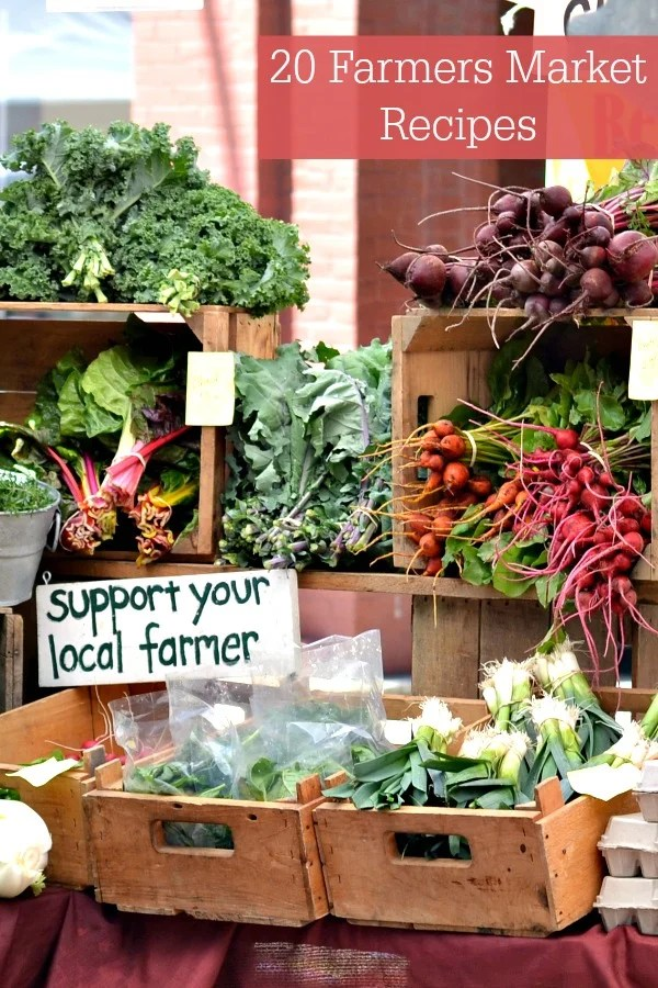 These farmers market recipes are full of delicious local, seasonal vegetables fresh from the farm. There are 20 great salads and other dishes here. Time for a trip to the farmers market!