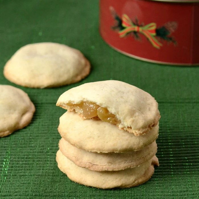 These filled cookies are a classic Christmas dessert recipe. So good!