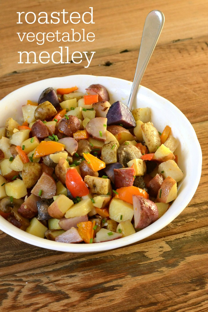 This easy roasted vegetable medley is a delicious side dish fit for Thanksgiving dinner or a regular weeknight meal. The flavor is fantastic!