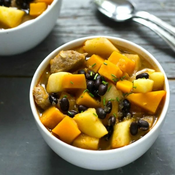 This fall harvest stew is a frugal, healthy dinner recipe.