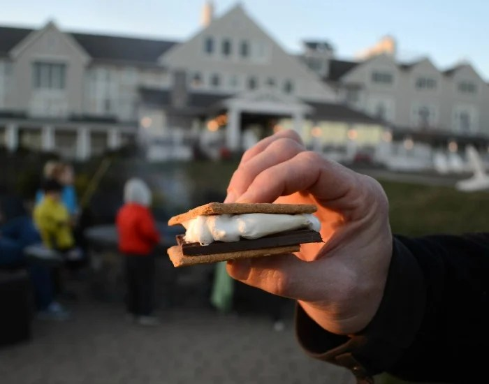 S'mores cap off the perfect day at Inn by the Sea.