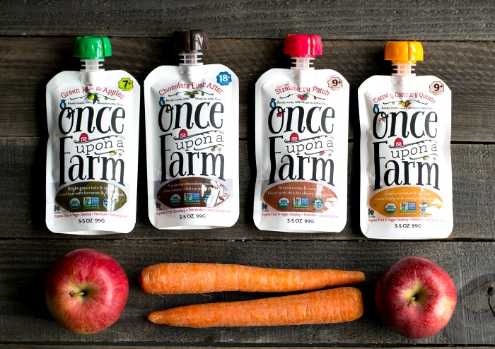 Once Upon a Farm makes delicious baby food that's great for smoothie bowls, too!