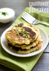 These cauliflower pancakes are a savory side dish that even a cauliflower skeptic will enjoy!