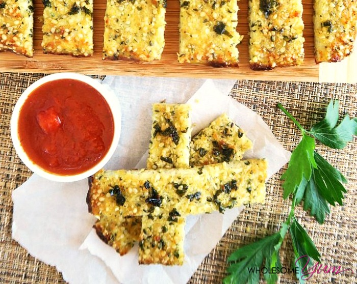 Garlic Butter Cauliflower Breadsticks