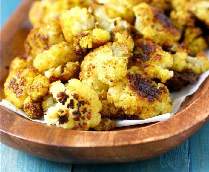 Garlic Curry Roasted Cauliflower