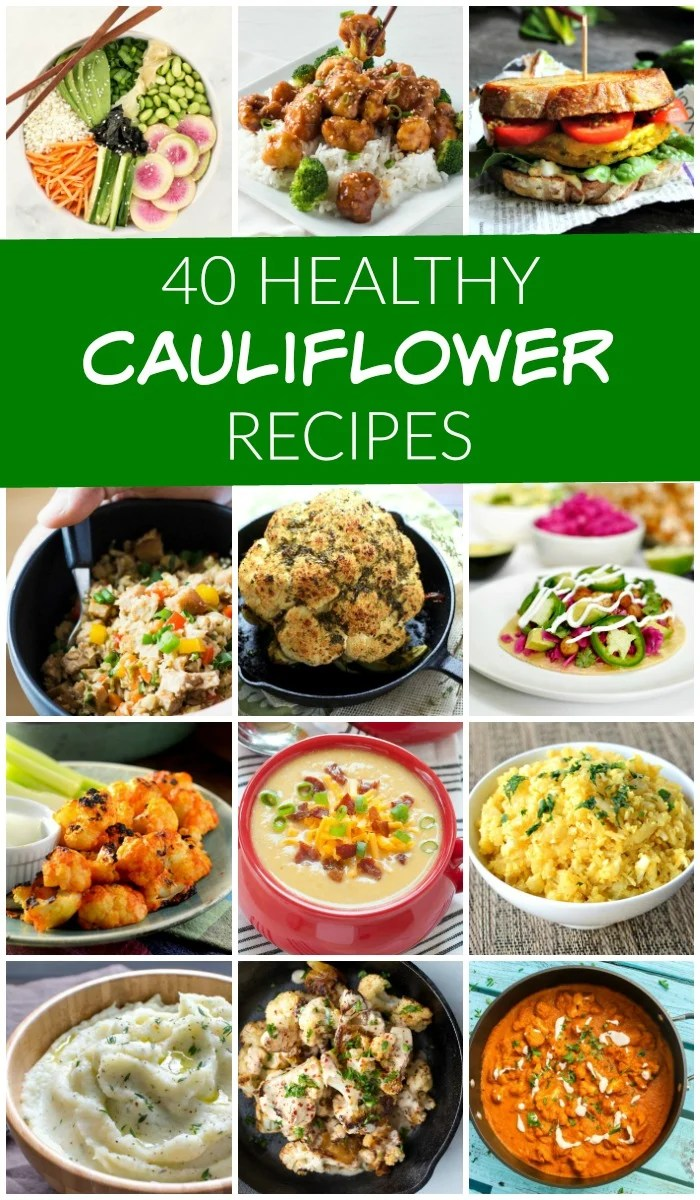 These healthy cauliflower recipes are some of the best you'll ever try! Many of them are gluten-free, dairy-free, and vegetarian. All of them are a few steps above plain old steamed cauliflower.