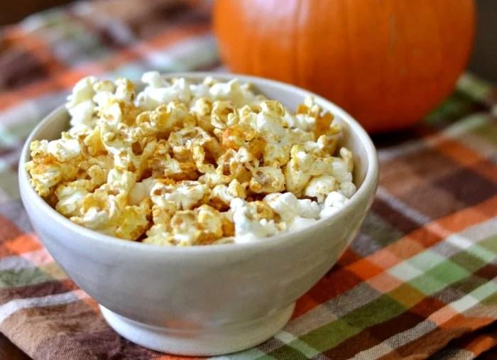 Pumpkin glazed popcorn