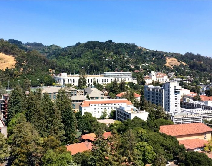 UC Berkeley campus view from above