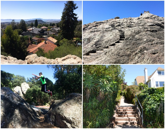 Indian Rock Park is a great place to explore with the kids. Stunning views, too!