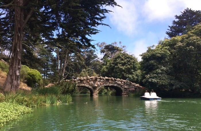 Pedal boating in San Francisco's Golden Gate Park