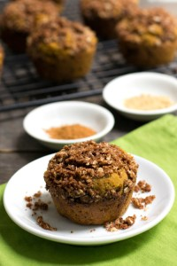 These pumpkin spice muffins are a delicious treat full of fall flavors. Try this healthy dessert recipe to get in the mood for fall!