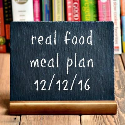 Real Food Meal Plan Week 140