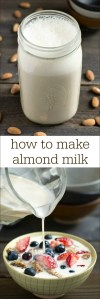 Learn how to make almond milk at home and you'll save lots of money on non-dairy milk. You can also control the ingredients in homemade almond milk and avoid the additives in the packaged version. Recipe from realfoodrealdeals.com