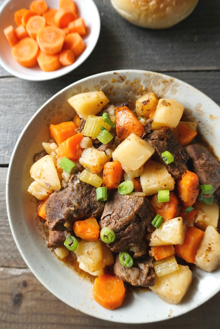 This Instant Pot Beef Stew is a delicious, healthy dinner recipe. It's so easy to make this comfort food favorite in the Instant Pot. (gluten-free, dairy-free)