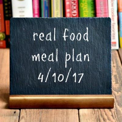 Real Food Meal Plan Week 157