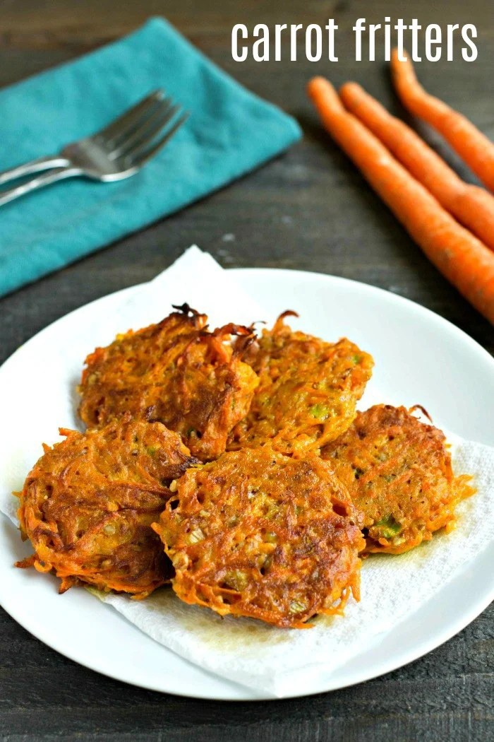 These easy carrot fritters are such a delicious side dish! There are so many flavors going on in this healthy gluten-free recipe.
