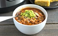 Instant Pot beef chili, comfort food in a bowl!