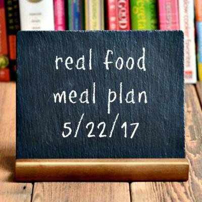 Real Food Meal Plan Week 162