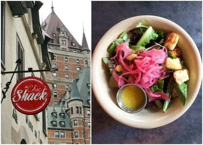 Le Chic Shack is a great place to grab a locally sourced burger and salad in Quebec City.