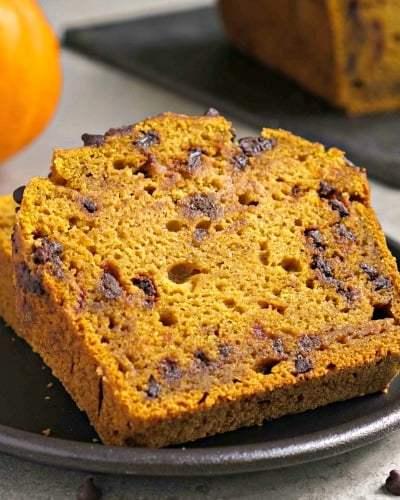 Gluten Free Chocolate Chip Pumpkin Bread