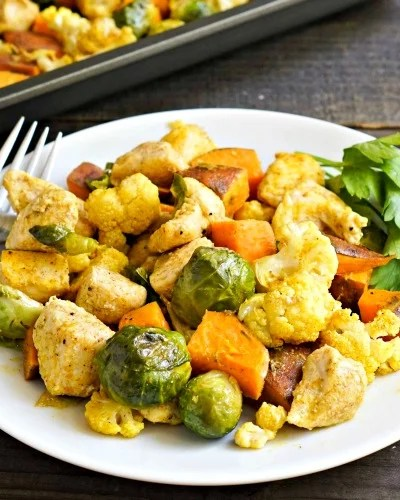 Sheet Pan Chicken Curry with Vegetables