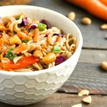 Peanut ramen noodle salad from realfoodrealdeals.om