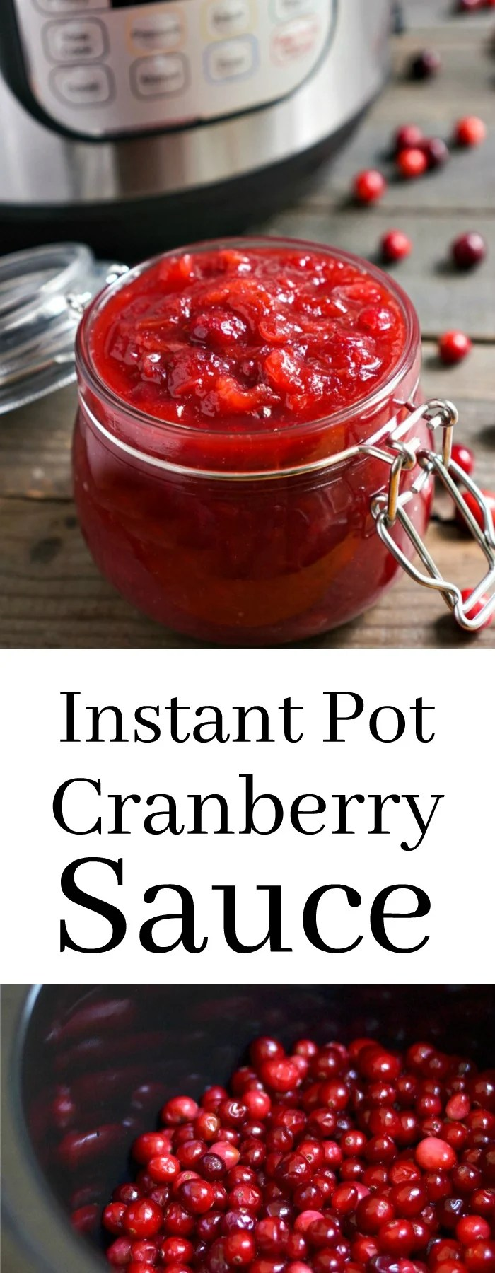 This Instant Pot Cranberry Sauce is a must-have side dish for your Thanksgiving table. Such an easy, healthy holiday recipe! Gluten-free, vegan