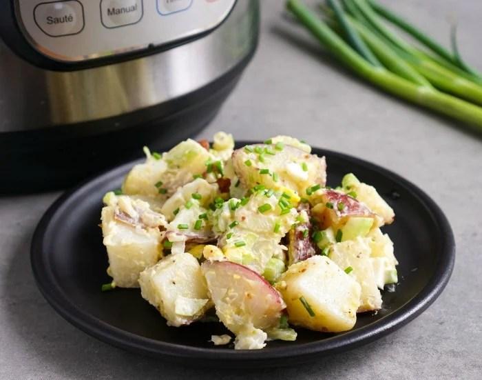 Instant Pot potato salad on a plate