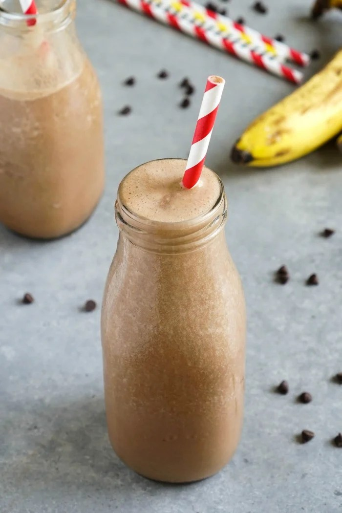 This healthy chocolate milkshake recipe is my version of a homemade Frosty. It's an easy, delicious vegan dessert drink without the guilt.