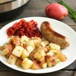 This Instant Pot German potato salad is a delicious Bavarian side dish.