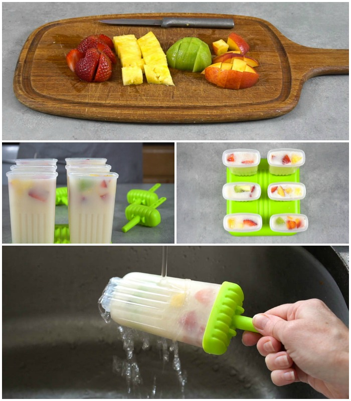 These healthy homemade fruit popsicles are the easiest dessert!