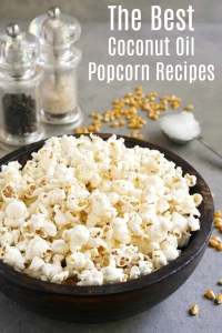 This is everything you need to know about coconut oil popcorn. It can be flavored with sweet or savory toppings, and it's an easy, healthy snack that everyone loves.