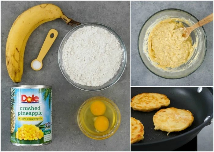 These pineapple pancakes are so easy to make!