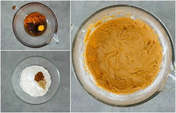 This gluten free pumpkin bread batter comes together quickly.