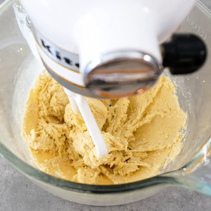 A stand mixer is the best way to make this cut out cookie dough.