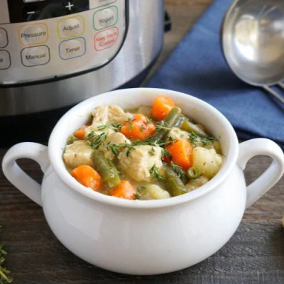 Instant Pot chicken stew is the best winter meal.