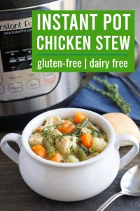 This Instant Pot chicken stew is cozy comfort food for a chilly night.
