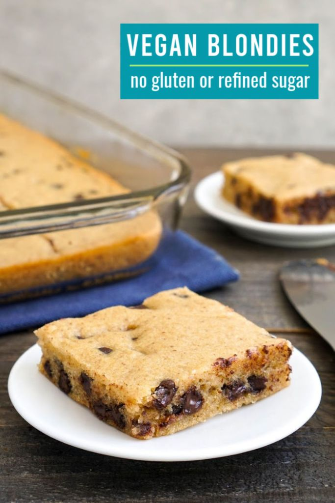 These vegan blondies are such an easy, delicious dessert!